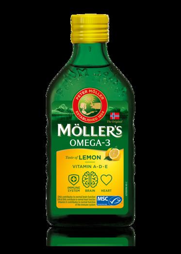 Möller's-ის ვირთევზას ღვიძლის ზეთი ლიმონის გემოთი