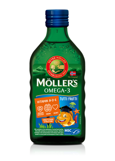 Picture of Möller's-ის ვირთევზას ღვიძლის ზეთი TUTTI FRUTTI