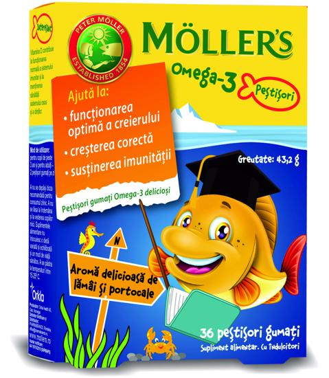 Picture of Möller's ვირთევზას ღვიძლის ზეთის ჟელეები ციტრუსის არომატით